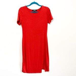 Lulu's Red Bodycon T-Shirt Dress Size Large